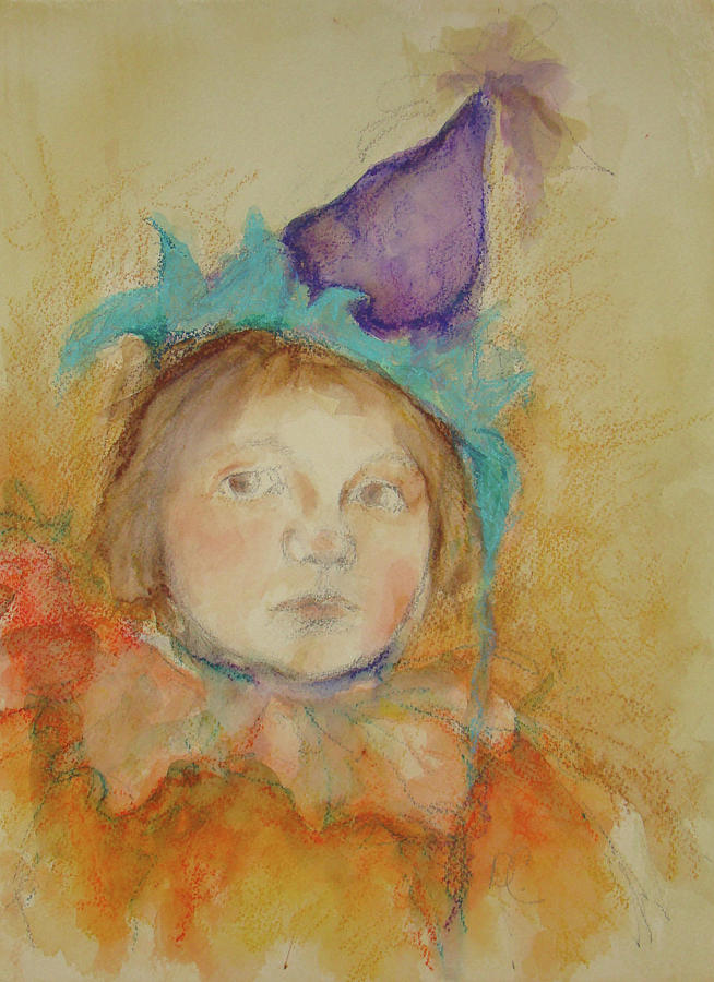 Little Girl Painting - At The Party by Debbie Callahan