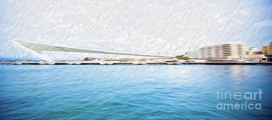 At the Pier in San Juan Puerto Rico Digital Art by Kenneth Montgomery