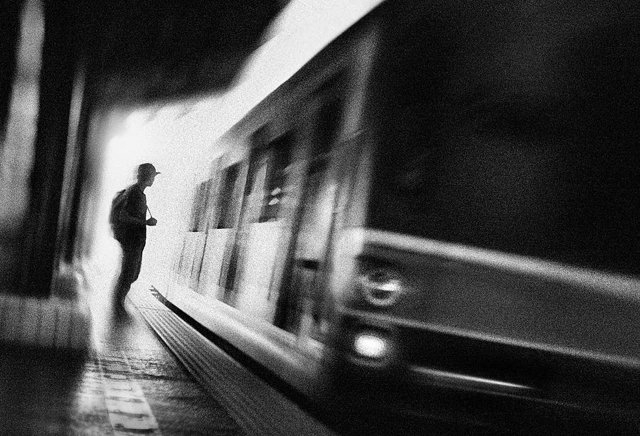 Transportation Photograph - At The Station Series: 1/5. The Diparture by Sebastian Kisworo