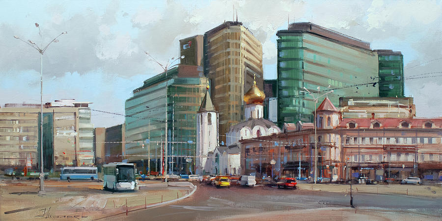 At The Turn Of The Ages. Tverskaya Zastava Painting