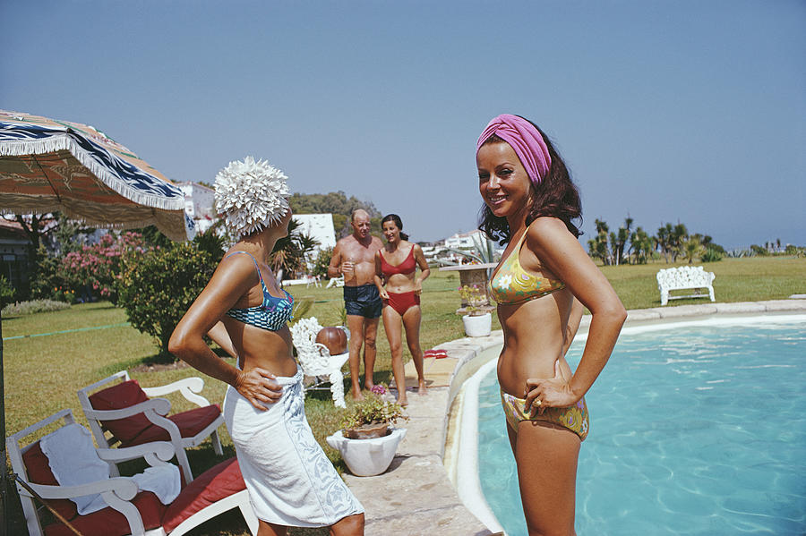 At The Von Pantzs Photograph by Slim Aarons
