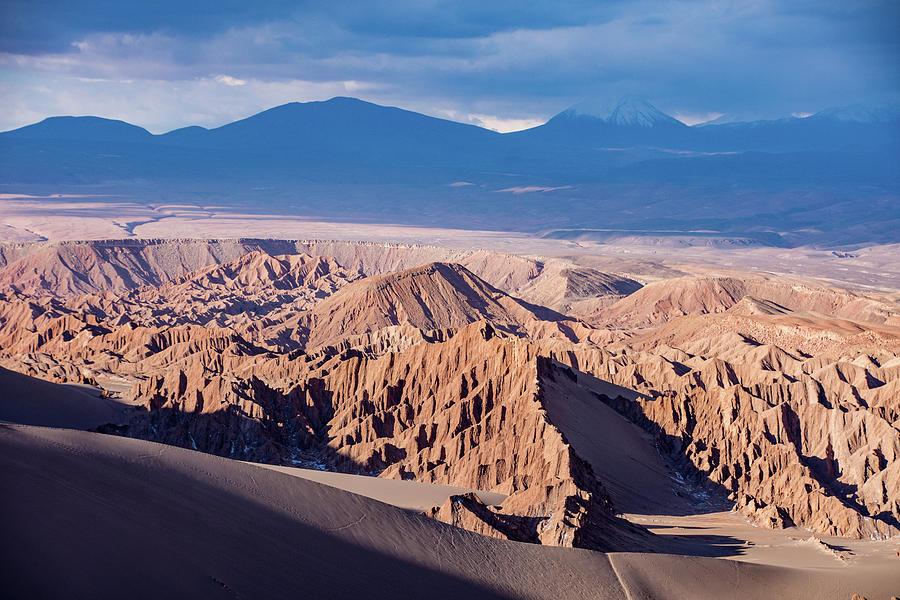 Atacama Pinnacles and Volcanoes by Mark Hunter