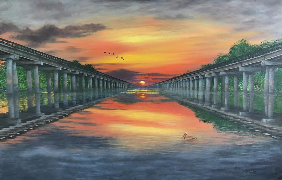 Atchafalaya Basin Bridge by Marlene Little