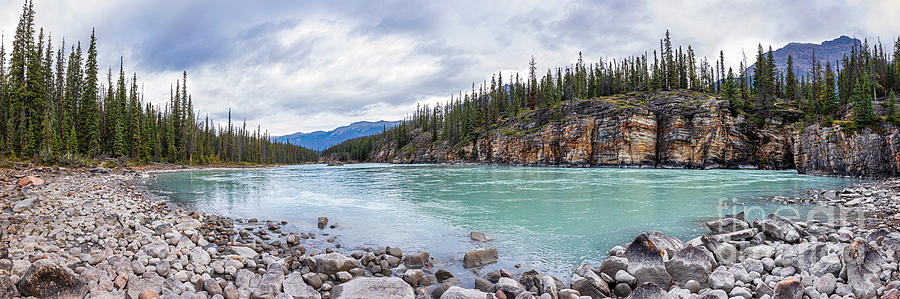Athabasca River Panorama by Alma Danison