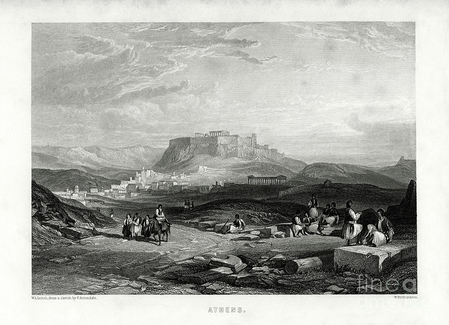 Athens, Greece, 1887. Artist W Drawing by Print Collector