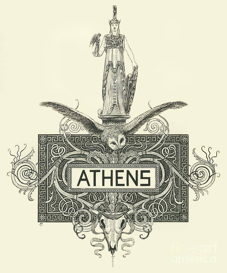 Athens Drawing by Print Collector
