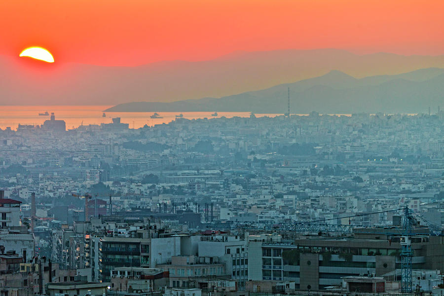 Athens Sunset Photograph by Peeterv