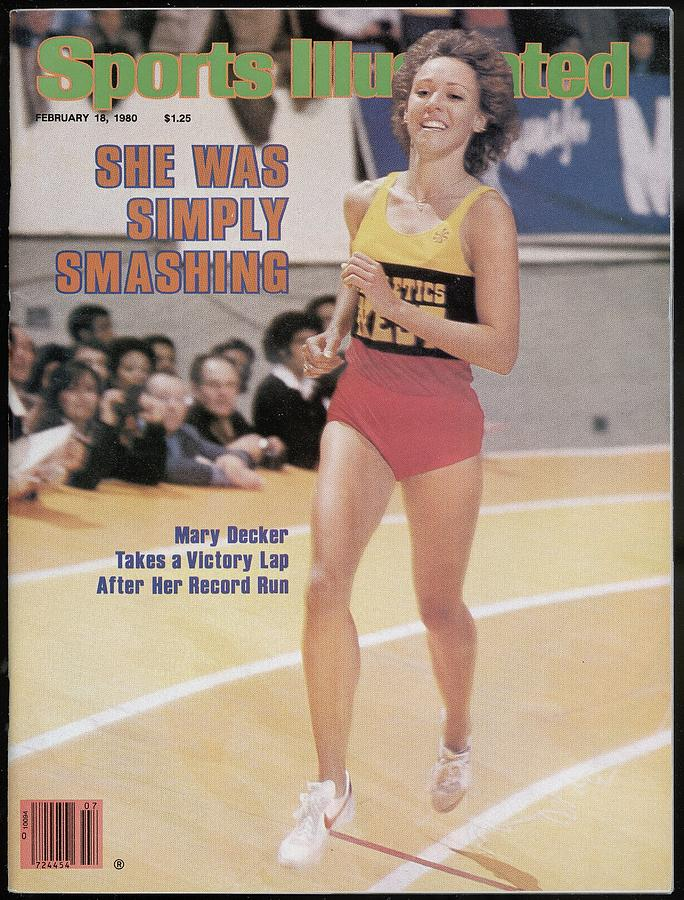 Athletics West Mary Decker, 1980 Millrose Games Sports Illustrated Cover Photograph by Sports Illustrated