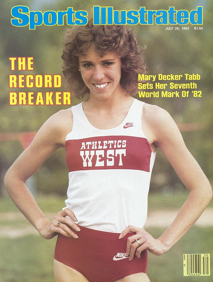 Athletics West Mary Decker Tabb, 1982 Usa-mobil Outdoor Sports Illustrated Cover Photograph by Sports Illustrated