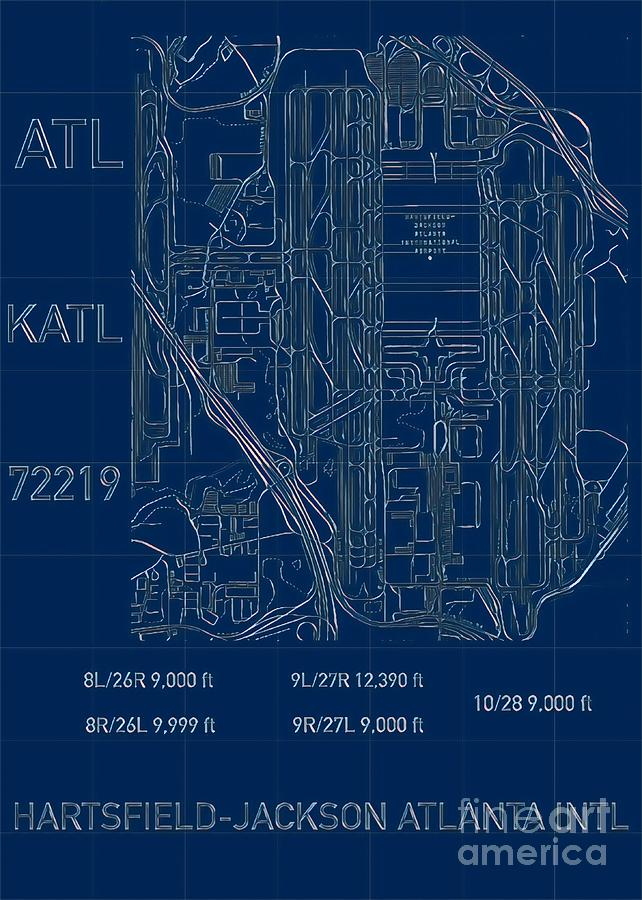 ATL Atlanta Airport Blueprint by HELGE