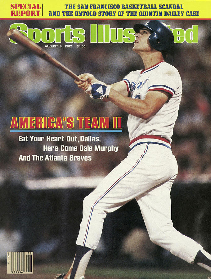 Atlanta Braves Dale Murphy... Sports Illustrated Cover Photograph by Sports Illustrated