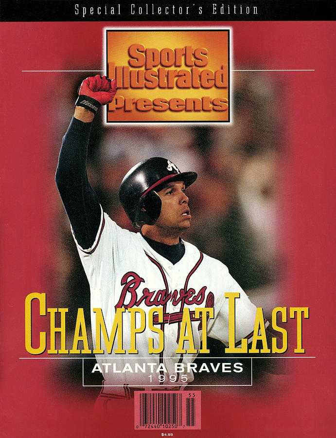 Atlanta Braves David Justice, 1995 World Series Sports Illustrated Cover Photograph by Sports Illustrated