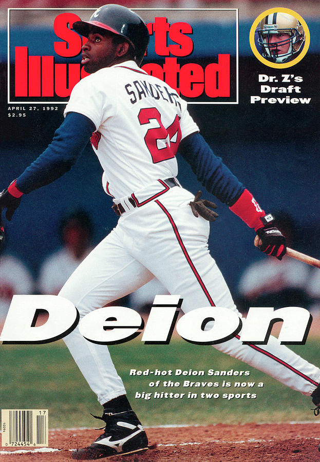 Atlanta Braves Deion Sanders... Sports Illustrated Cover Photograph by Sports Illustrated