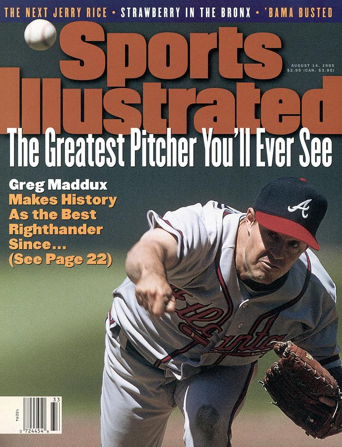 Atlanta Braves Greg Maddux... Sports Illustrated Cover Photograph by Sports Illustrated