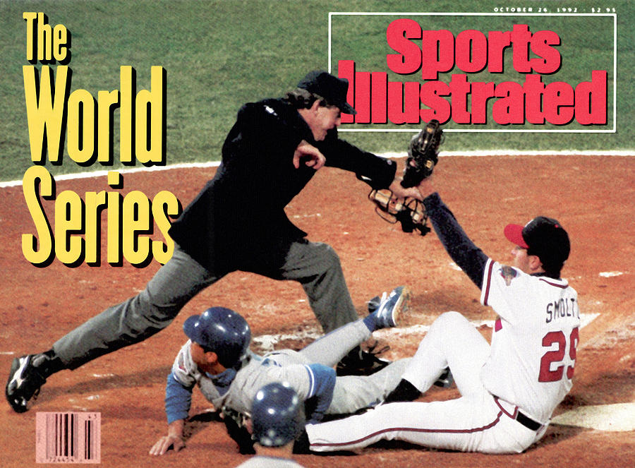 Atlanta Braves John Smoltz, 1992 World Series Sports Illustrated Cover Photograph by Sports Illustrated
