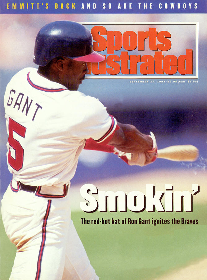 Atlanta Braves Ron Gant... Sports Illustrated Cover Photograph by Sports Illustrated