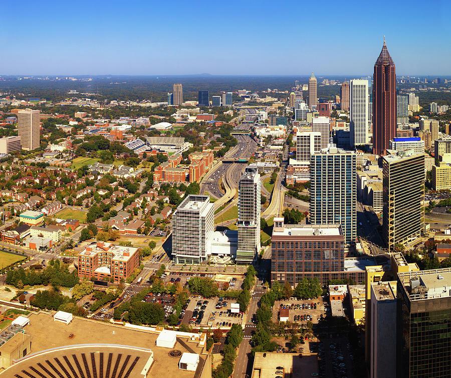 Atlanta Downtown, Georgia, Usa Photograph by Moreiso
