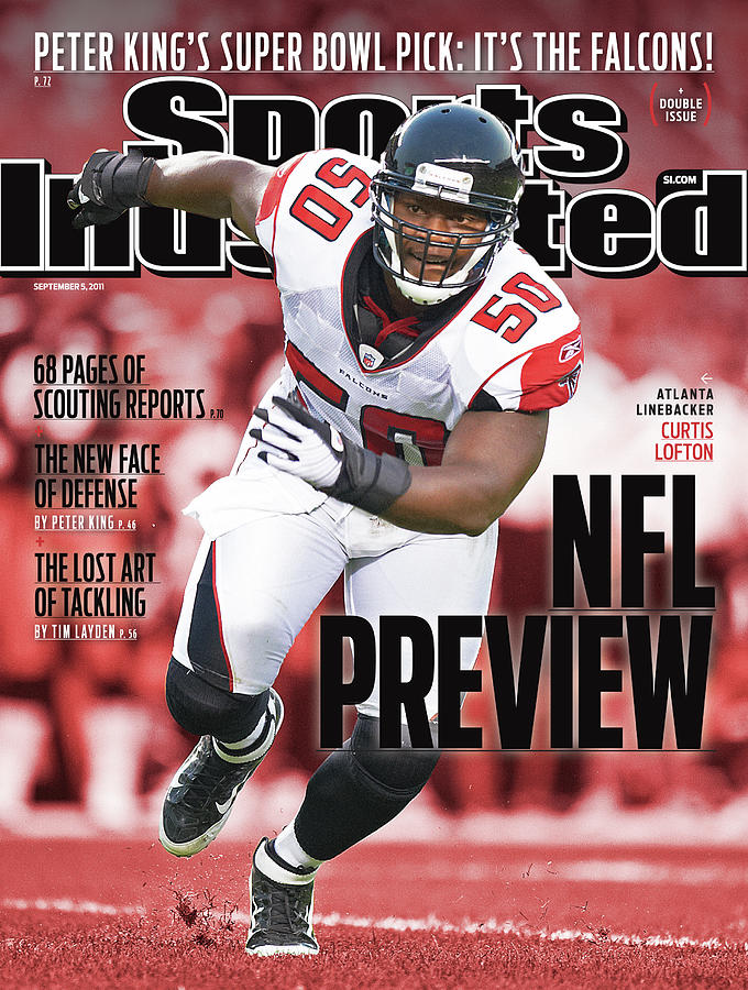 Atlanta Falcons Curtis Lofton, 2011 Nfl Football Preview Sports Illustrated Cover Photograph by Sports Illustrated