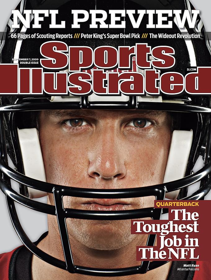 Atlanta Falcons Qb Matt Ryan, 2009 Nfl Football Preview Sports Illustrated Cover Photograph by Sports Illustrated