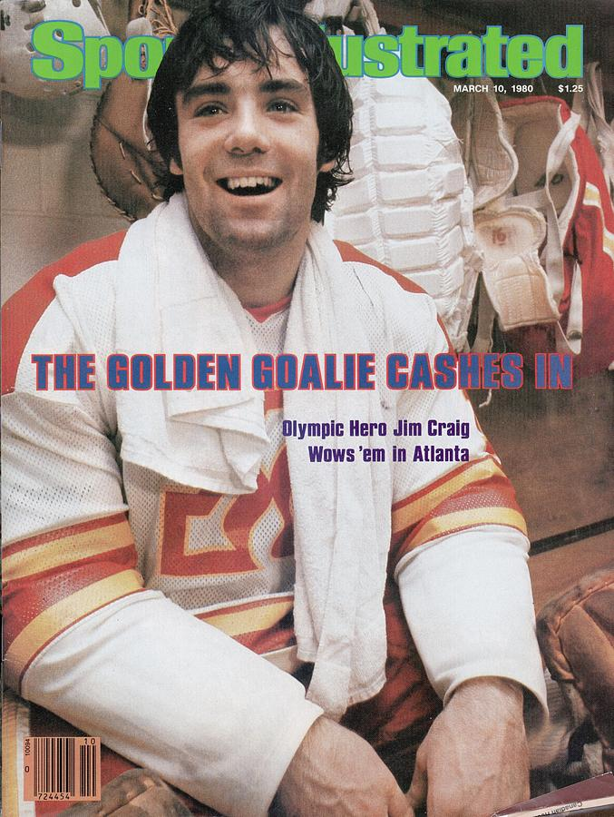 Atlanta Flames Goalie Jim Craig Sports Illustrated Cover Photograph by Sports Illustrated