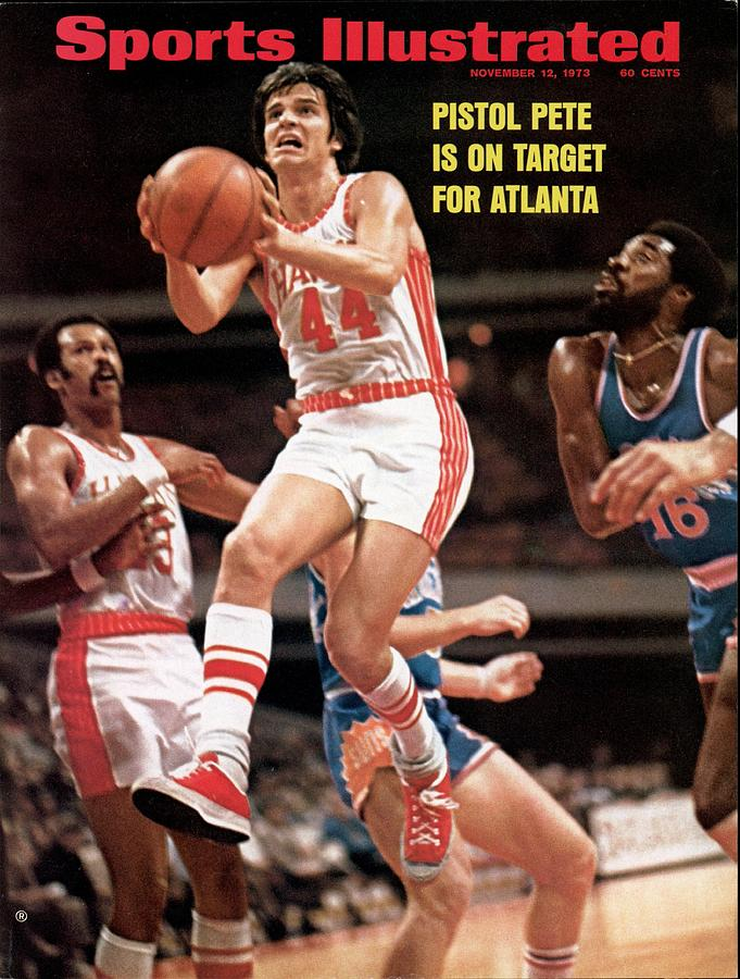 Atlanta Hawks Pete Maravich Sports Illustrated Cover Photograph by Sports Illustrated