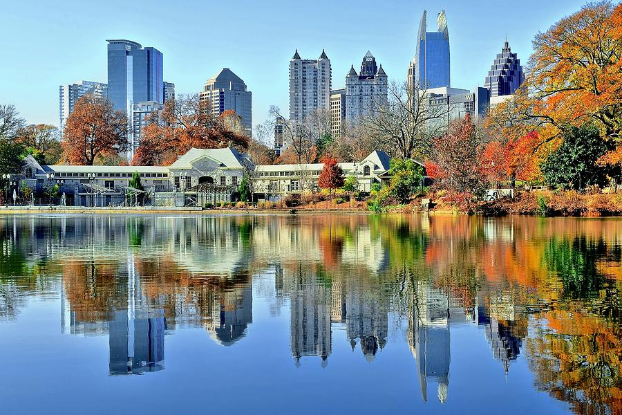 Atlanta Photograph - Atlanta Reflected by Frozen in Time Fine Art Photography