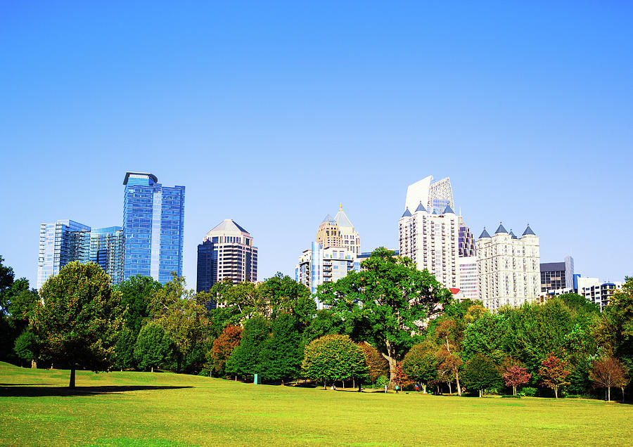 Atlanta Skyline, Piedmont Park Photograph by Moreiso