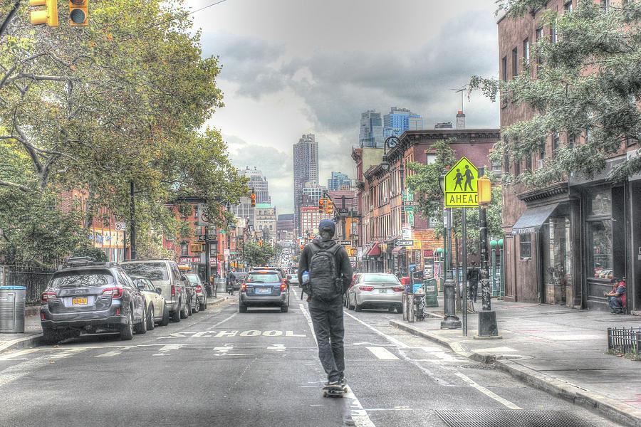 Brooklyn Photograph - Atlantic Ave Skateboard by Robert Goldwitz