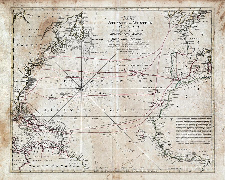 Atlantic Ocean, 1771 by Carington Bowles