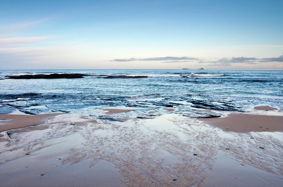 Atlantic Ocean Surf And  Beach Scene Photograph by Racheldewis