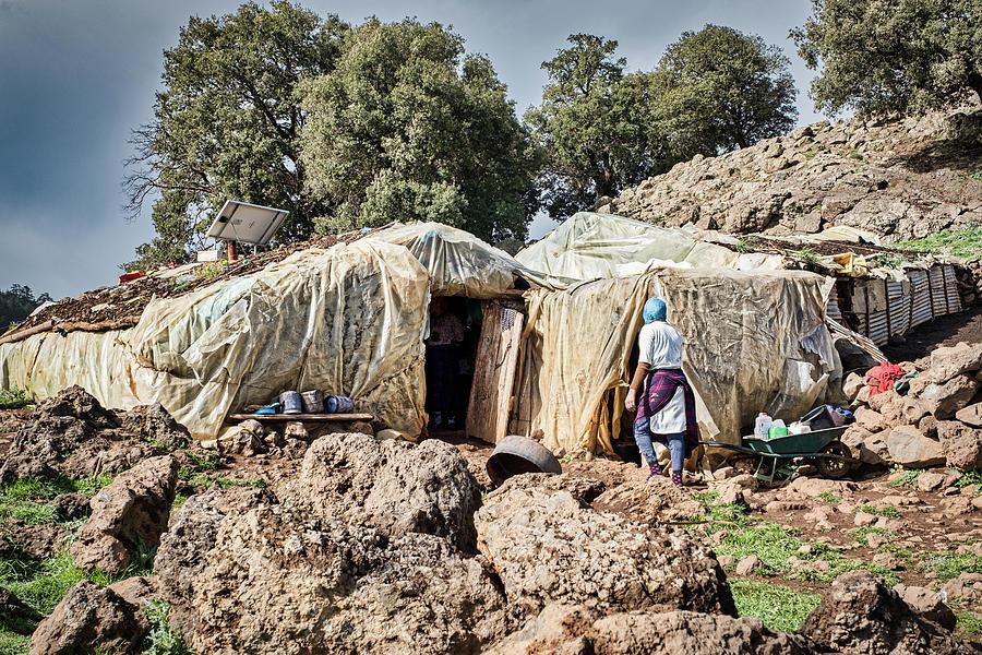 Atlas Mountains Berber Home - Morocco by Stuart Litoff