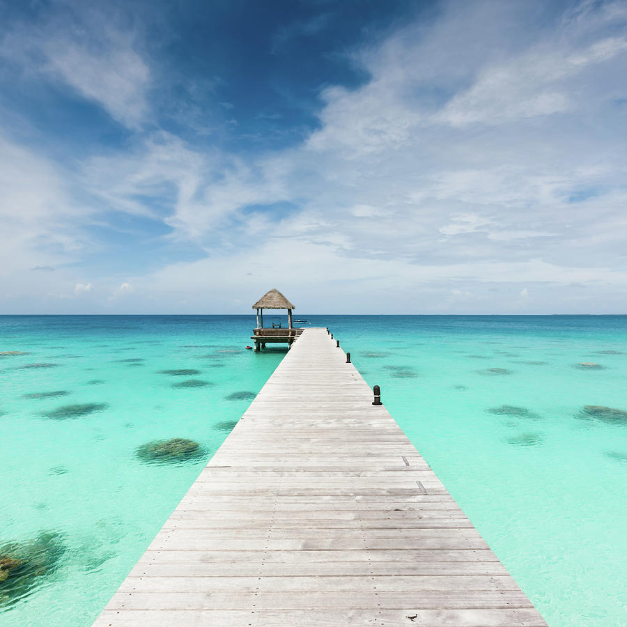 Atoll Jetty Wooden Pier Fakarava French Photograph by Mlenny