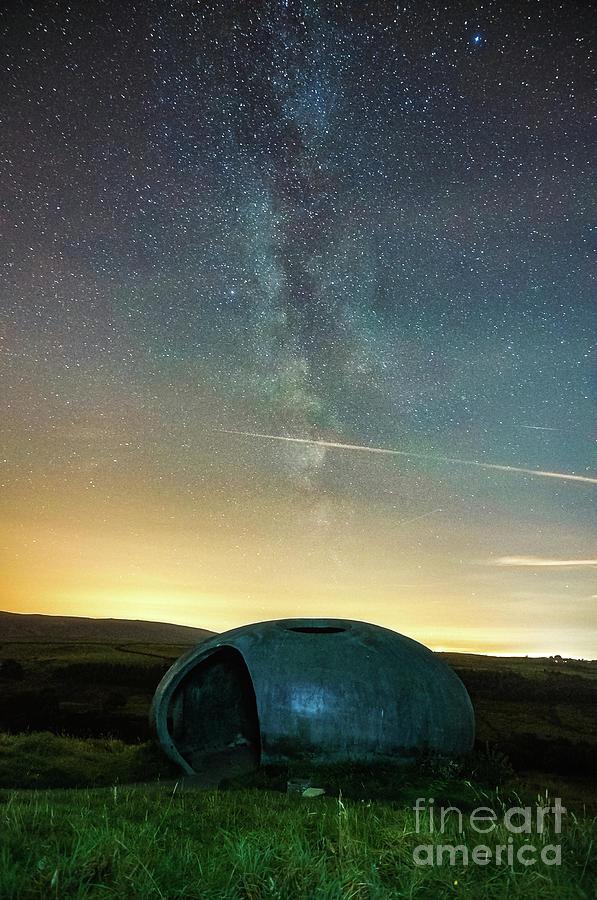 Atom Panopticon At Night Photograph