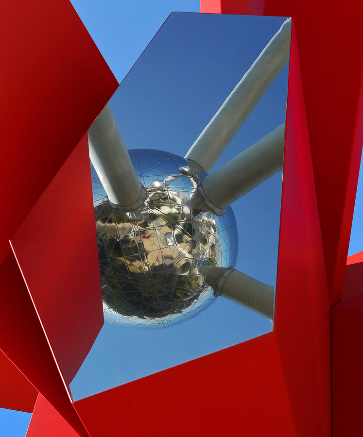 Red Photograph - Atomic Art by Lus Joosten