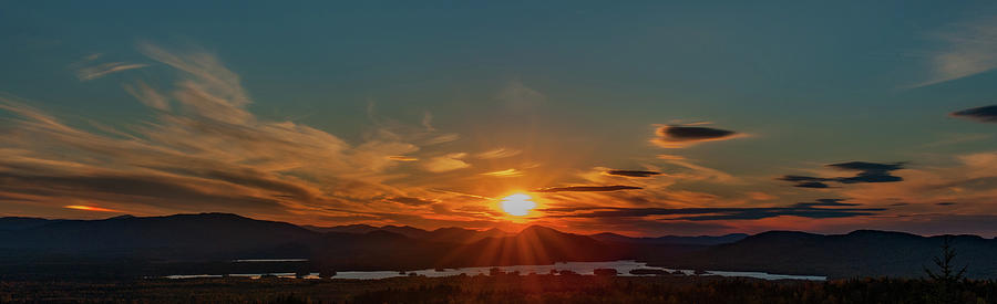 Attean Pond Sunset by Rick Hartigan