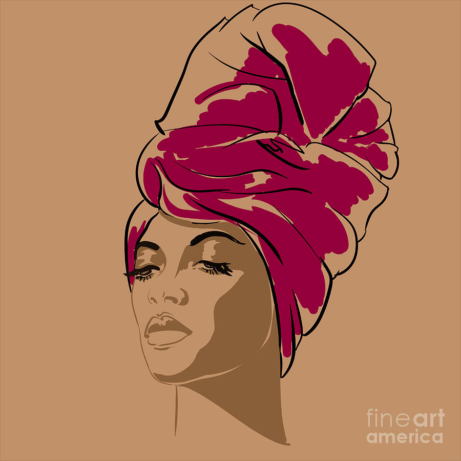 Studio Digital Art - Attractive Young African-american by Hahanna