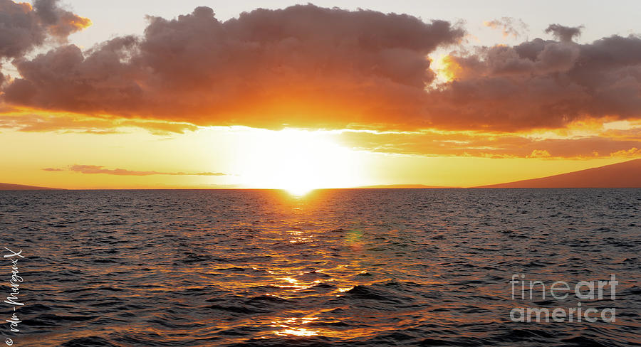Auau Channel Sunset Photograph