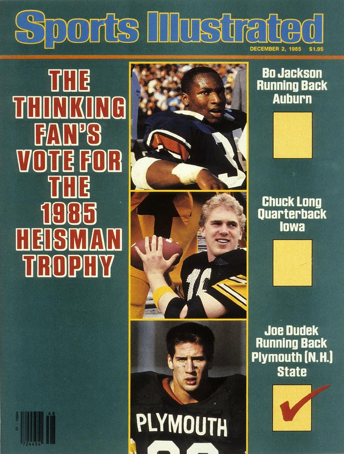 Auburn Bo Jackson, Iowa Qb Chuck Long, And Plymouth State Sports Illustrated Cover Photograph by Sports Illustrated