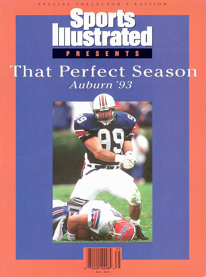 Auburn University Ace Atkins, 1993 Ncaa Perfect Season Sports Illustrated Cover Photograph by Sports Illustrated