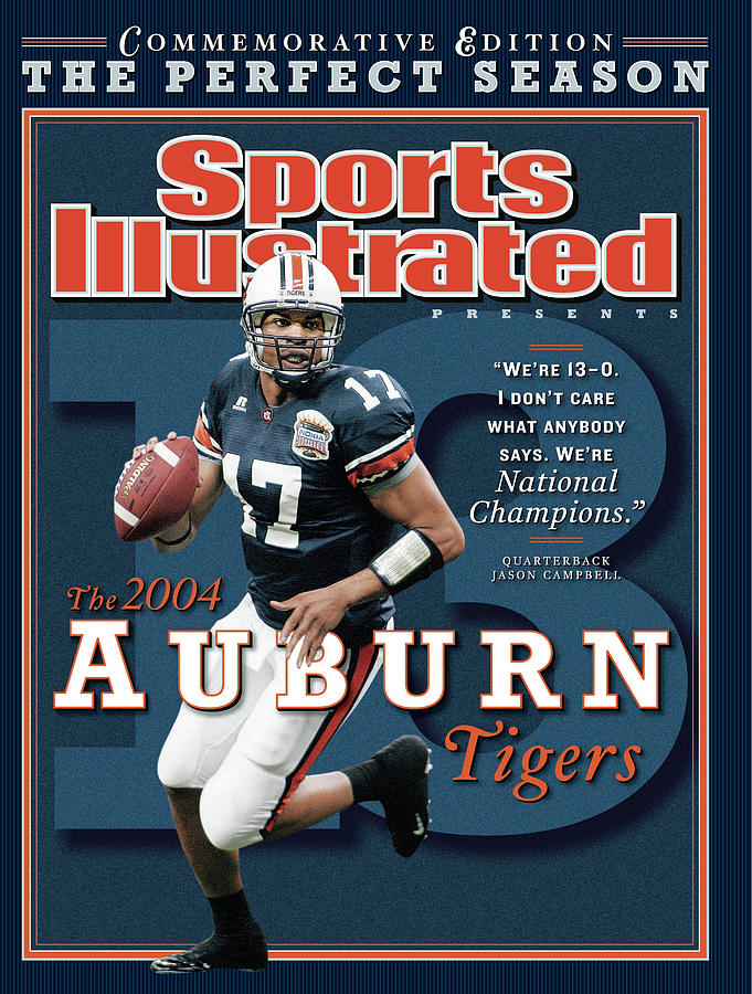Auburn University Qb Jason Campbell, 2004 Ncaa Perfect Sports Illustrated Cover Photograph by Sports Illustrated