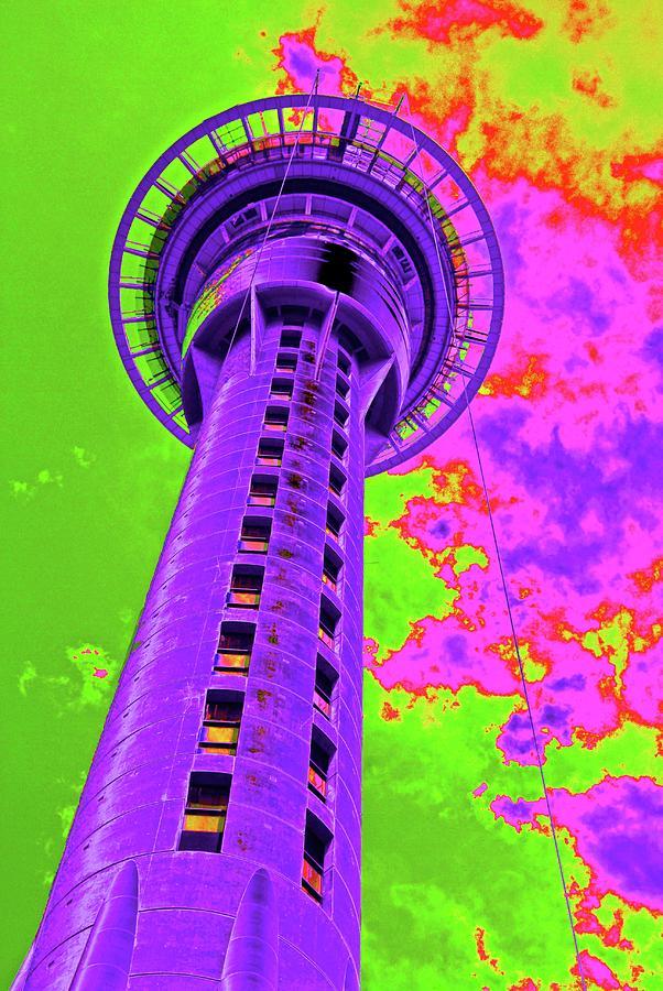 Auckland Tower by Sandra Lee Scott