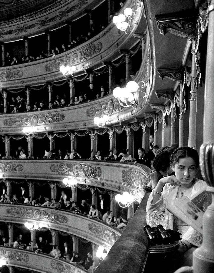 Audience In Elegant Boxes At La Scala Op Photograph by Alfred Eisenstaedt