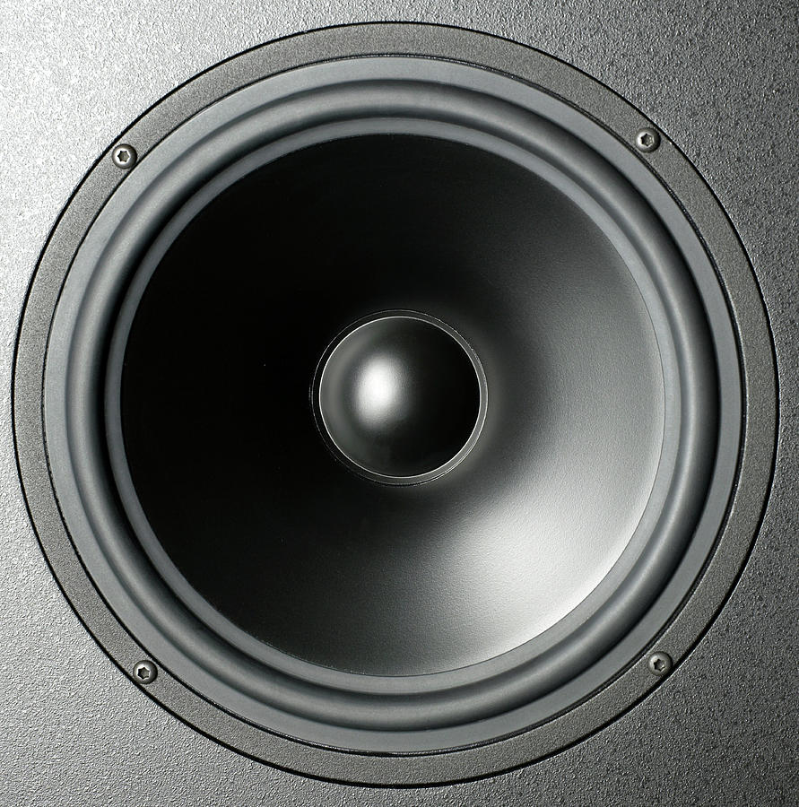 Audio Speaker Cone Photograph by Tony Cordoza