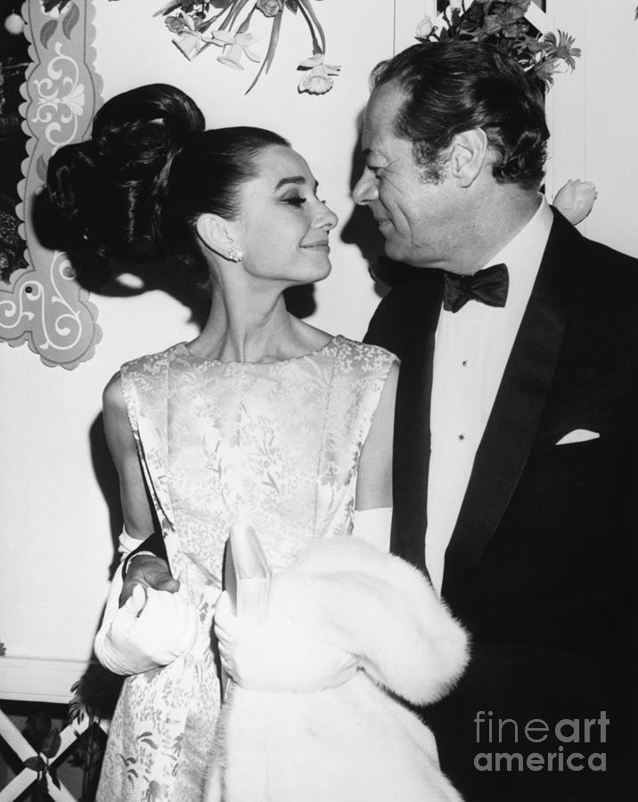 Audrey Hepburn Rex Harrison Premiere By Bettmann