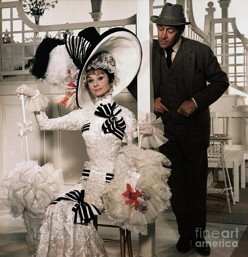 Audrey Hepburn And Rex Harrison Photograph by Bettmann
