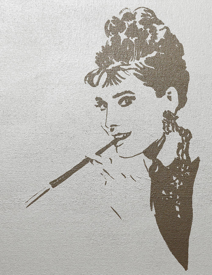 Audrey Hepburn. Gold on Silver by Masha Batkova