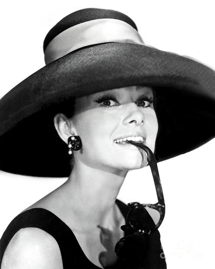 Audrey Hepburn Goofing Around - circa 1969 by Doc Braham
