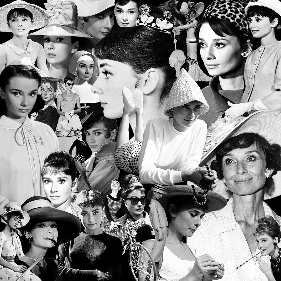 Audrey Hepburn Montage 1 by Andrew Fare