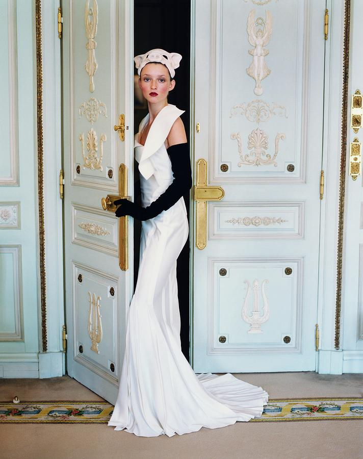 Audrey Marnay At The Hotel Ritz Photograph by Arthur Elgort