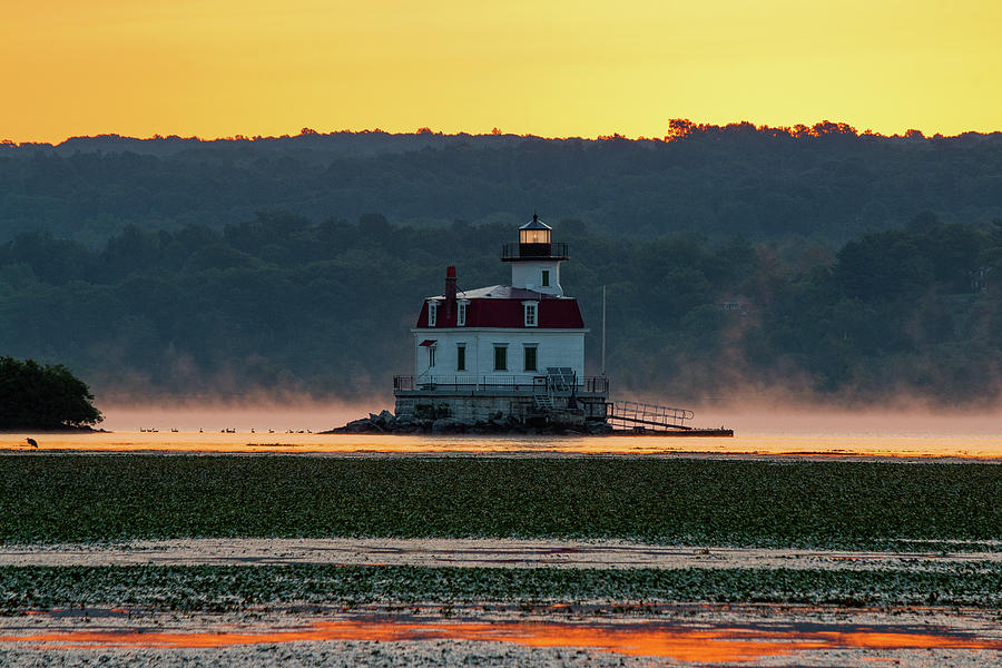 Esopus Lighthouse Photograph - August Dawn at Esopus Light III 2017 by Jeff Severson